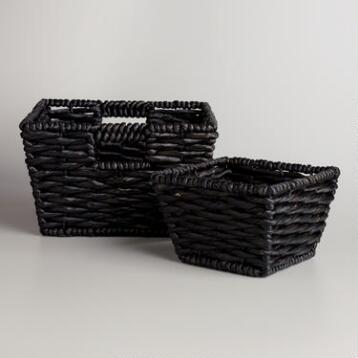 Black Water Hyacinth Betty Baskets