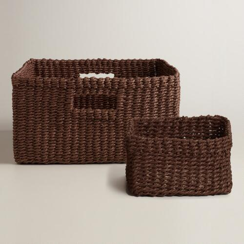Espresso Madison Baskets