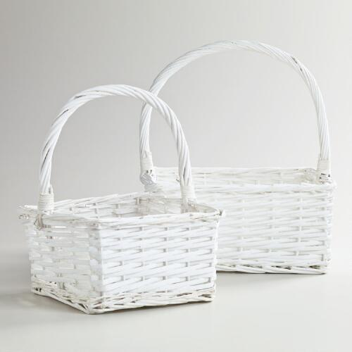 White Square Isabella Baskets