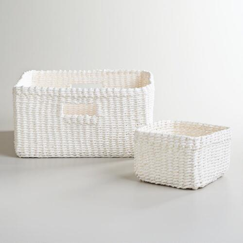 White Madison Baskets