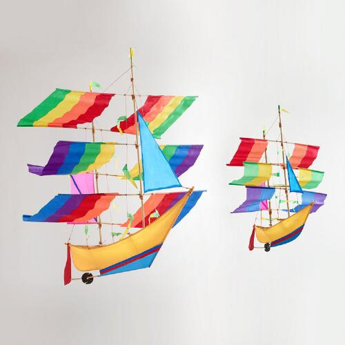 Balinese Boat Kites, Small and Large