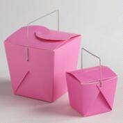 Pink Take Out Boxes, Set of 4