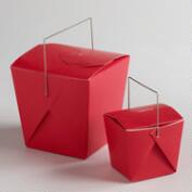 Red Take Out Boxes, Set of 4