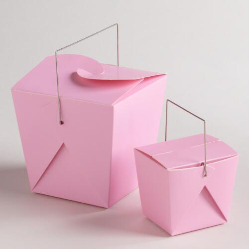 Pink Nectar Take Out Boxes, Set of 4