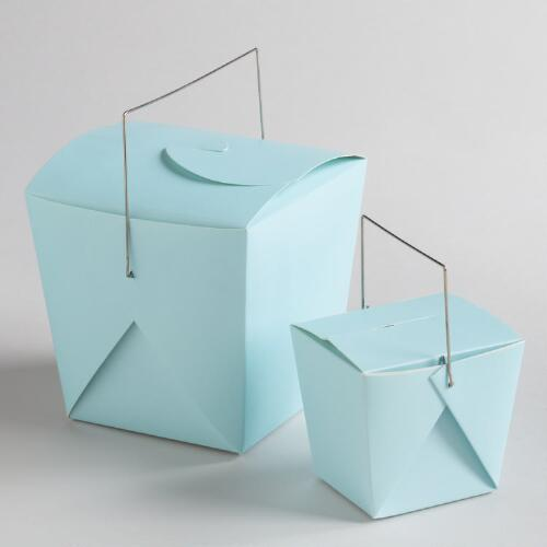 Blue Glow Take Out Boxes, Set of 4