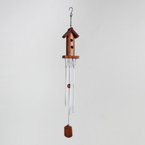 Aluminum Tube Birdhouse Wind Chimes