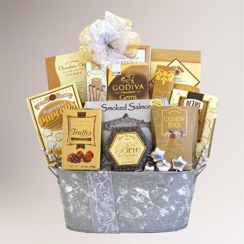 Silver Seasons Gourmet Sensations Gift Basket