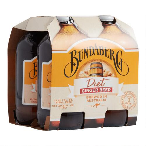 Bundaberg Diet Ginger Beer, 4-Pack