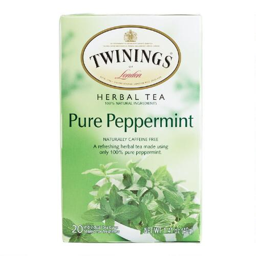 Twinings Pure Peppermint Tea, 20-Count