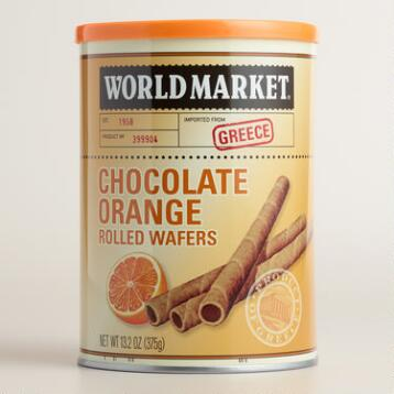 World Market ® Rolled Chocolate Orange Wafers