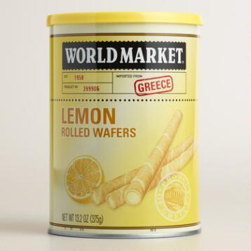 World Market ® Rolled Lemon Wafers