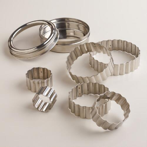 Fluted Cookie Cutters, Set of 6