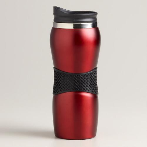 Red Gripper Travel Mug