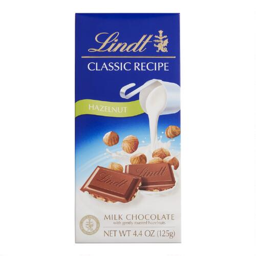 Lindt Classic Recipe Milk Chocolate Hazelnut Bar