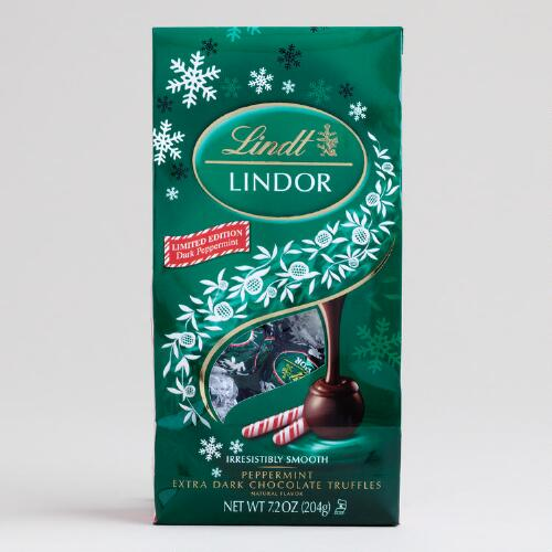 Limited Edition Lindt Holiday Dark Peppermint Truffles Bag