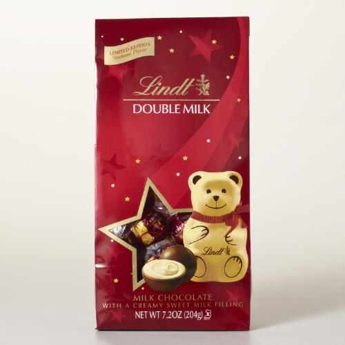 Lindt Holiday Teddy Bear Sweet Bag