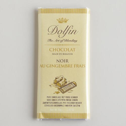 Dolfin Ginger Dark Chocolate Bar