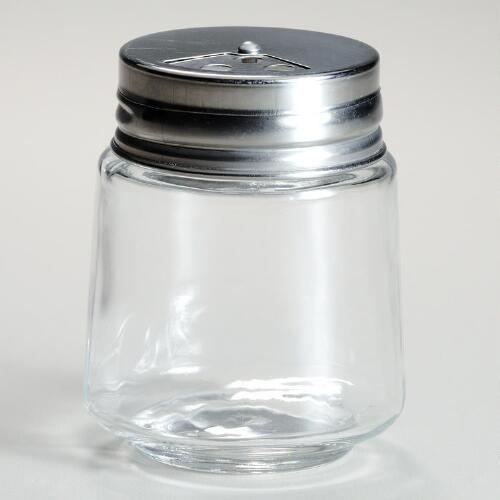 Cylinder Spice Jars with Metal Shaker Lids, Set of 4