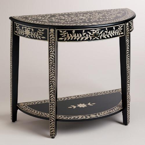 Kiran Faux Inlay Foyer Table