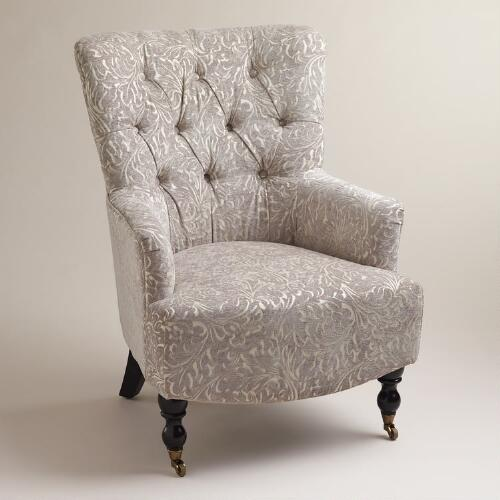 Gray Chenille Nina Chair