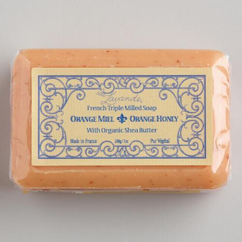 La Lavande Orange Honey Bar Soap