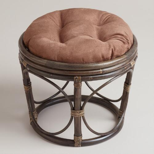 Java Microsuede Papasan Stool Cushion
