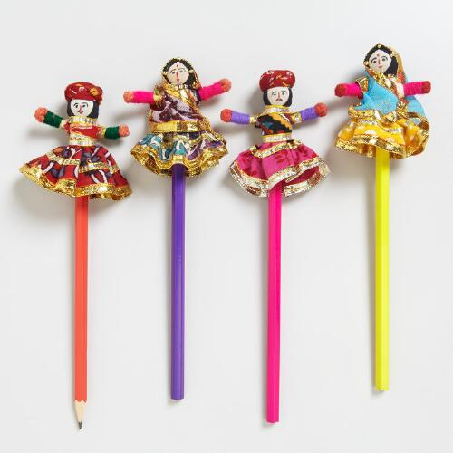 Indian Figure Pencils, Set of 4