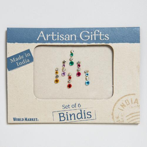 Silver Bindis, Set of 6