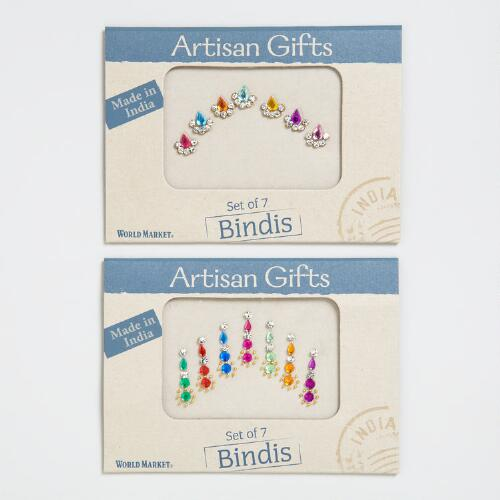 Multicolored Bindi 7-Packs, Set of 2