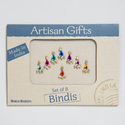 Multicolored Bindis, Set of 8