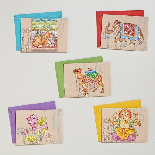 Hand Painted Indian Icon Cards