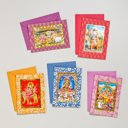 Handmade Hindu Gods and Goddesses Cards