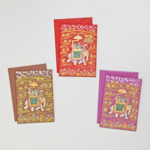 Hand Painted Elephant Cards