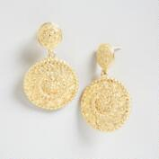 South Indian Medallion Dangle Earrings