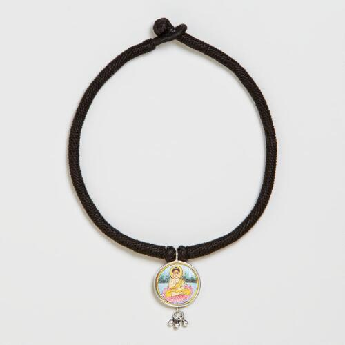 Black Buddha Choker Necklace