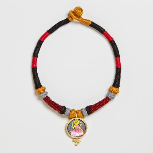 Black and Red Lakshmi Choker Necklace