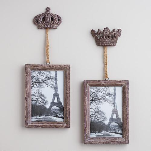 Gray Sophie Crown Frames, Set of 2