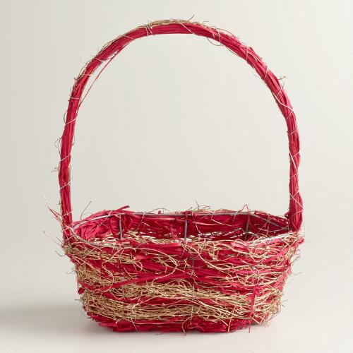 Small Red and Gold Basket