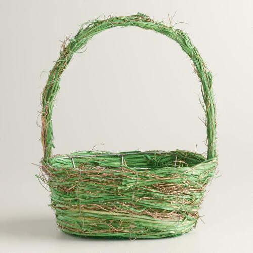 Small Green and Gold Basket
