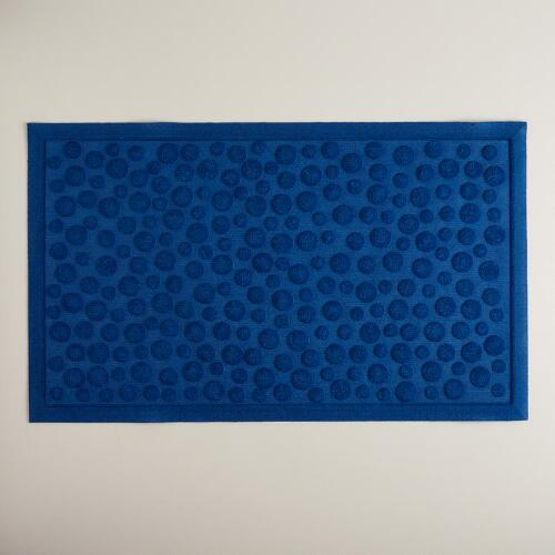 Blue Dot Rubber Doormat