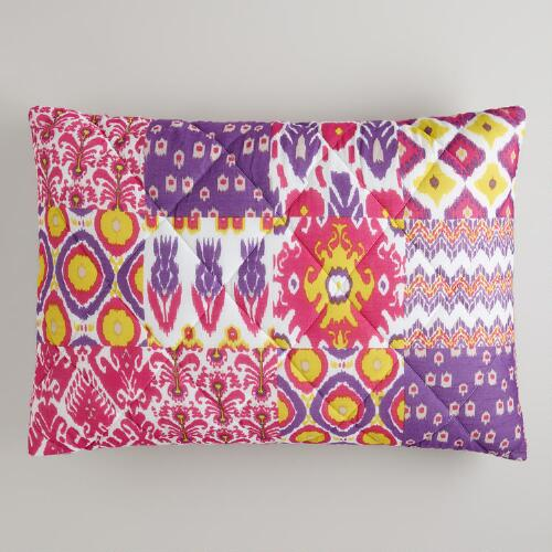 Ikat Asha Reversible Pillow Shams, Set of 2
