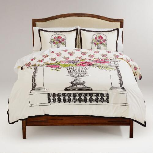Amour Bouquet Duvet and Pillow Shams Set