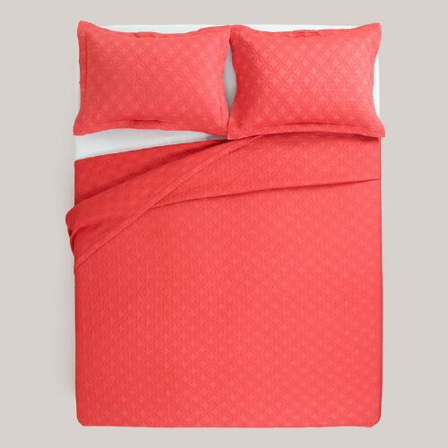Cranberry Matelasse Bedding Collection