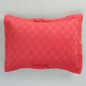 Cranberry Matelasse Pillow Shams, Set of 2