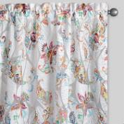 Floral Sheer Burnout Curtain