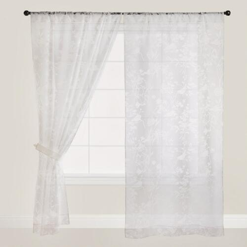 Wildflower Sheer Burnout Curtain