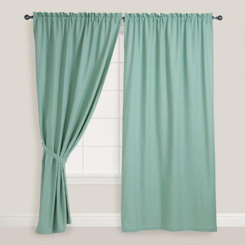 Jadeite Chelsea Curtains, Set of 2