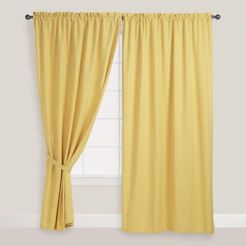 Cornsilk Chelsea Curtains, Set of 2