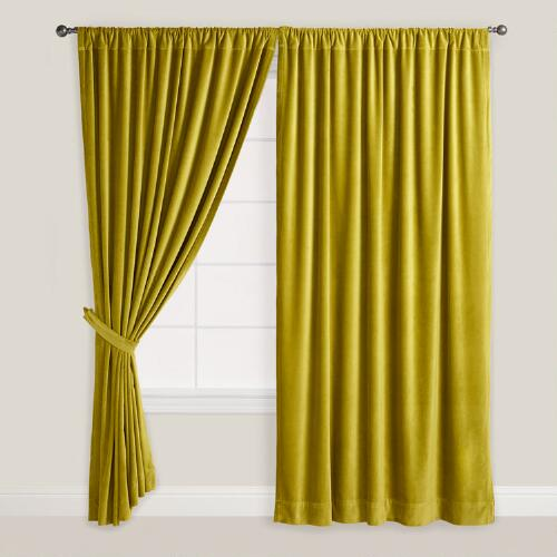 Green Velvet Oasis Curtain