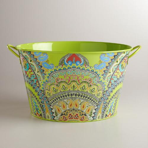 Green Venice Paisley Party Tub